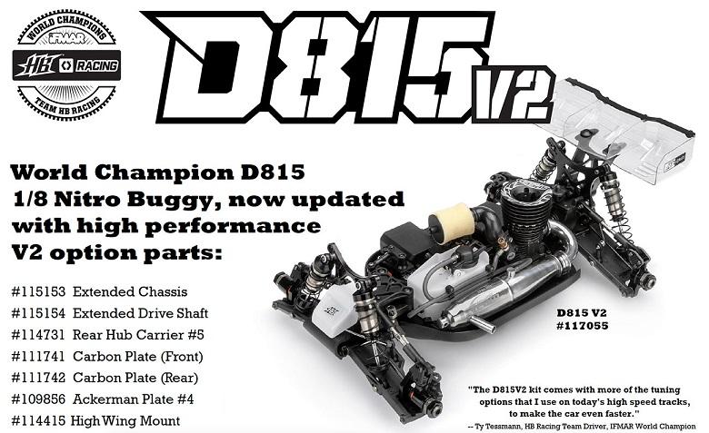 HB-109856 Type 4 Hot Bodies D812 Steering Block Arm Set